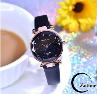 Đồng hồ nữ đeo tay cao cấp dây da kim tuyến lấp lánh DH71720 thumbnail
