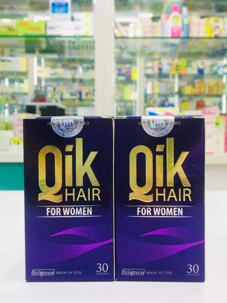 Qik hair for women (hộp 30 viên) ngăn ngừa rụng tóc, giúp tóc mọc nhanh giá rẻ