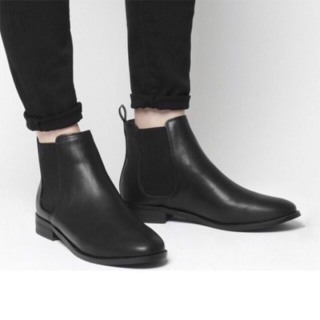 Giày nam,giày cao cổ chelsea boot đen da trẻ trung thumbnail