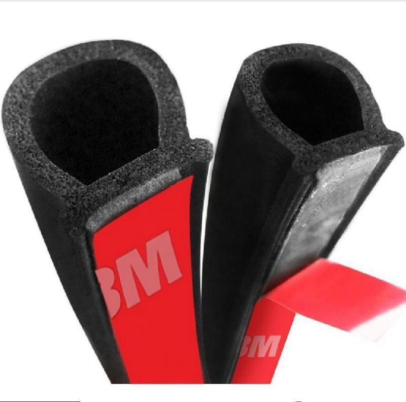 10 Mét gioăng cao su chữ D 14x12mm, Giảm ồn, chống bụi, ngăn nước, cách nhiệt xe hơi