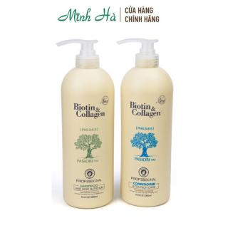 Bộ đôi dầu gội & dầu xả Biotin Collagen Professional Ph 5.5 6.5 giúp ngăn rụng tóc 1000ml thumbnail