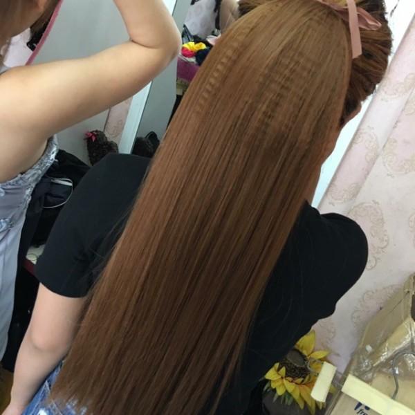 Tóc giả nữ đẹp ❤️ FREESHIP❤️ Tóc cột thẳng bấm phồng chân tóc - kèm ảnh thật giá rẻ