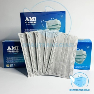 Khẩu trang 4 lớp kháng khuẩn Ami màu xám thumbnail