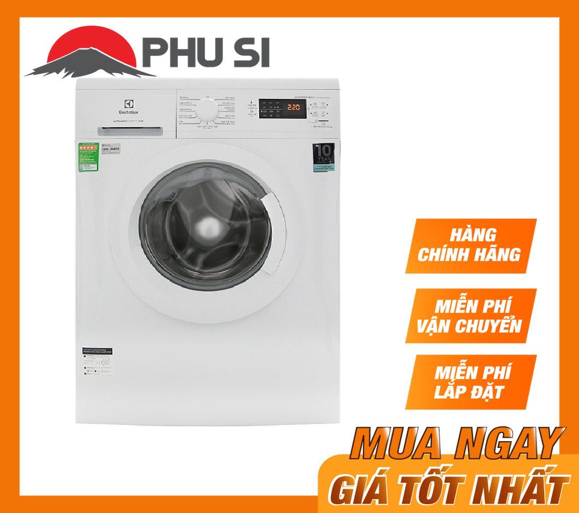 TRẢ GÓP 0% - Máy giặt Electrolux Inverter 8 Kg EWF8025DGWA , loại máy giặt cửa trước, lồng ngang với 10 chương trình hoạt động - Bảo hành 2 năm