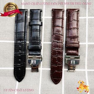 [FLASH SALE] Dây đồng hồ da Tissot khóa bạc size 19,20,21,22mm (ĐỦ 2 MÀU) thumbnail
