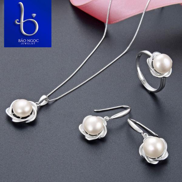 Bộ Trang Sức Ngọc Trai Trang Sức Bạc Đính Ngọc Trai BNT622 Bảo Ngọc Jewelry