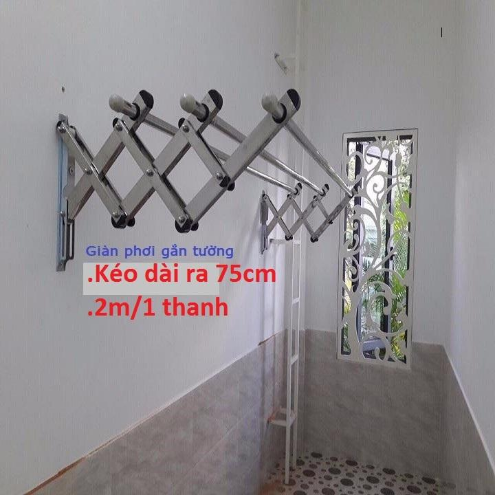 Giá Cực Sốc Khi Mua Giàn Phơi Gắn Tường INOX 2m Loại Dày