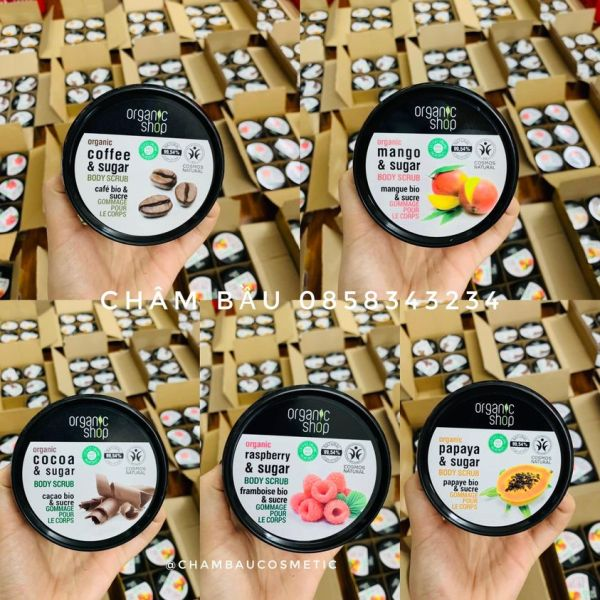 [ CHÍNH HÃNG ]  🍓Kem Tẩy Tế Bào Da 🍓 Toàn Thân Organic Coffee & Sugar Body Scrub 250ml