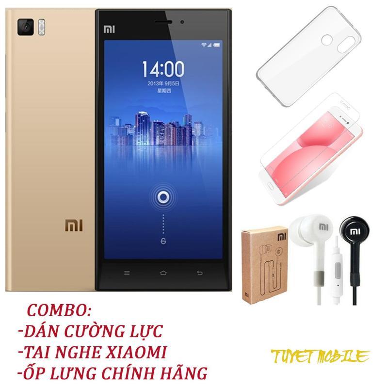 Điện Thoại Xiaomi Mi 3 Ram 2Gb Rom 16Gb - Tặng kèm Kính cương lực, Ốp Lưng, Tai Nghe - Có sẵn Tiếng Việt