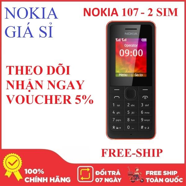 Điện thoại giá rẻ - Nokia 107 2 SIM 2 SÓNG - Nokia Giá Sỉ