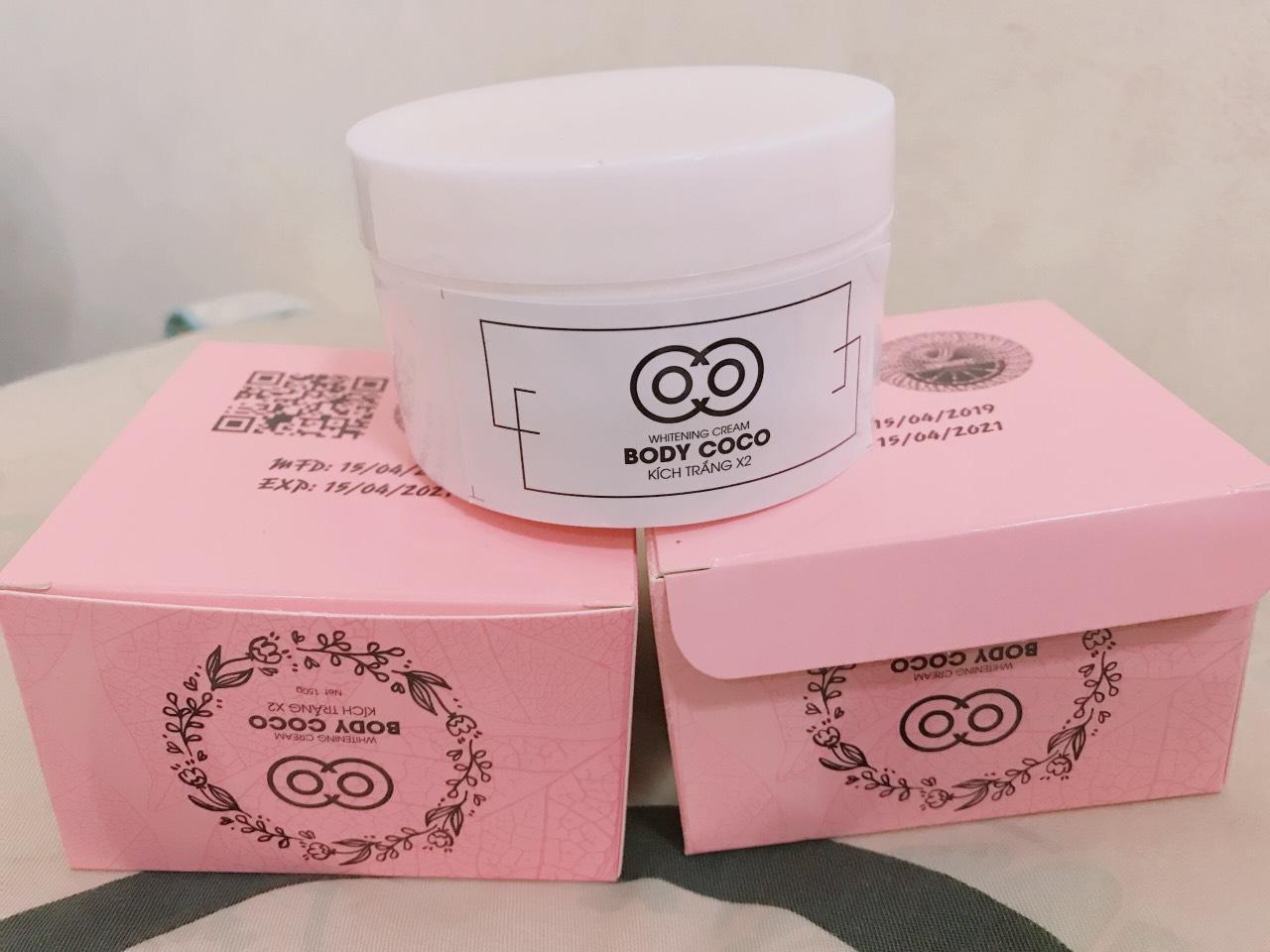 COMBO 2 kem Dưỡng trắng da body COCO