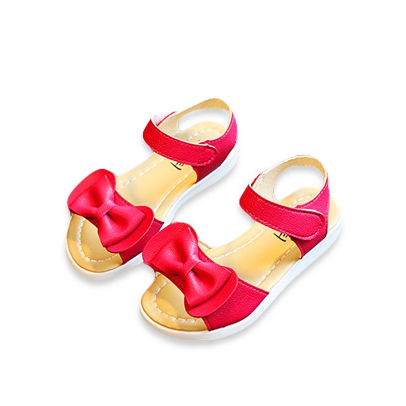 Giá bán Giày sandal đi học cho bé gái 6 – 10 tuổi thiết kế nơ đơn giản BBShine – S7