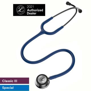 Ống nghe 3M Littmann Classic III, ống dây màu xanh Navy, mặt gương 27 inch, 5863 thumbnail