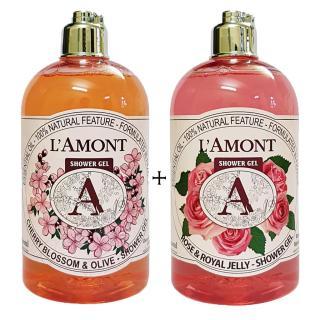 2 chai Sữa Tắm LAmont En Provence Hương Hoa Anh Đào và Hương Hoa Hồng- 500ml chai thumbnail