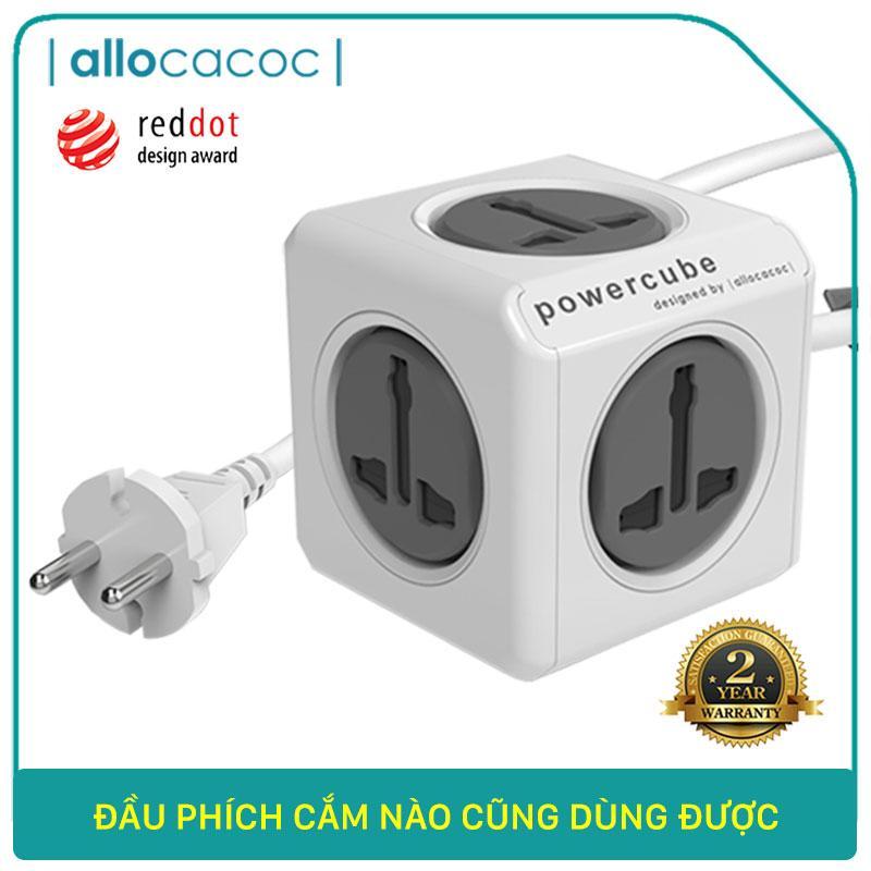 Ổ Cắm Điện Allocacoc PowerCube Extended Universal Dây Cáp 1.5m