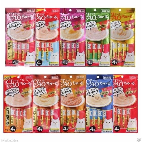 Pate Ciao Churu bổ sung dinh dưỡng cho mèo bịch 4 tuýp