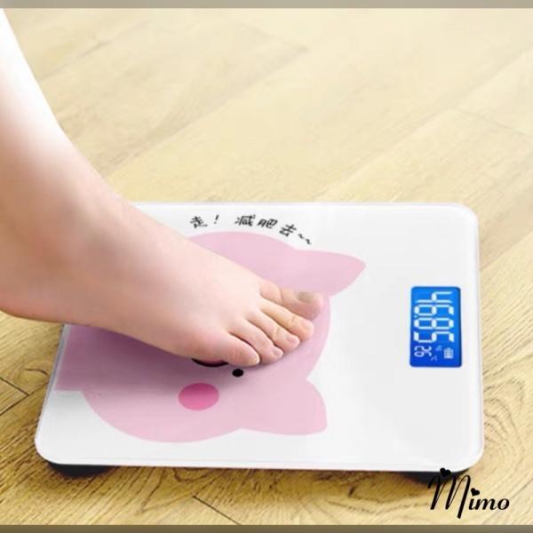 Cân điện tử sức khỏe hình heo hồng theo dõi sức khỏe và cân nặng màn hình LED hiển thị,độ chinh xác cao hình heo hồng