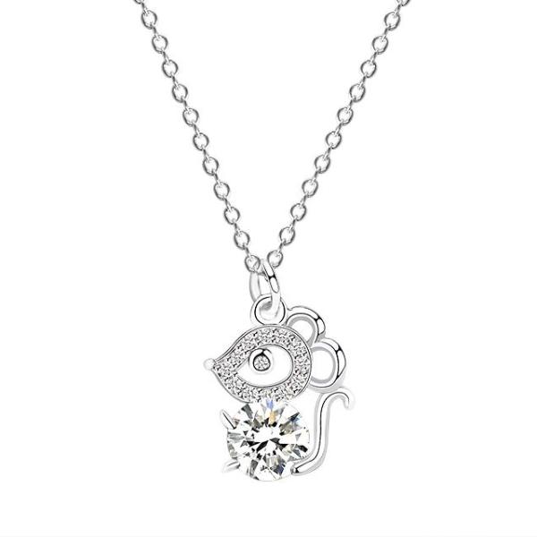 Dây chuyền S925 chuột may mắn DB2383 - Bảo Ngọc Jewelry