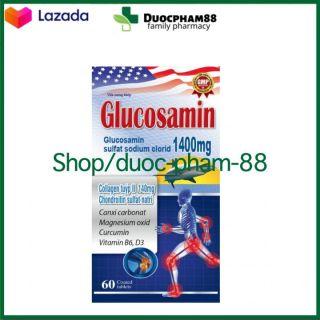 ( CHÍNH HÃNG) - Viên uống bổ xương khớp Glucosamin 1400mg giảm đau nhức mỏi xương khớp, giảm thoái hóa khớp - Hộp 60 viên HSD 2023 - HSD 2023 chuẩn GMP thumbnail