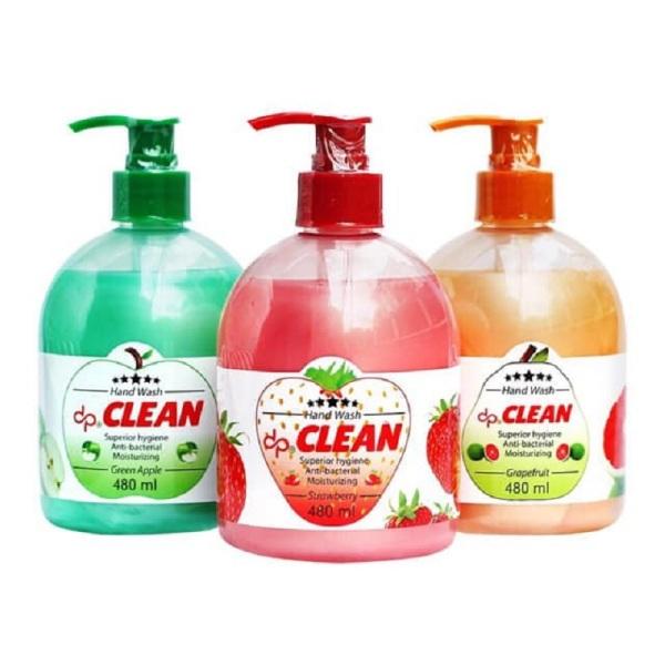 Sữa Rửa tay CLean 480ml diệt khuẩn, dưỡng da tay, Hương trái cây dễ chịu