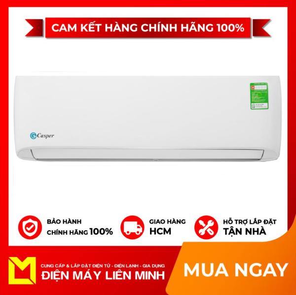 TRẢ GÓP 0% - Máy lạnh Casper 1 HP LC-09TL32 hàng nhập Thái Lan, mẫu mới 2020 Lọc bụi, kháng khuẩn, khử mùi:Chỉ có lưới lọc bụi thô Chế độ làm lạnh nhanh:Super Chế độ gió:Điều khiển lên xuống tự động, trái phải tùy chỉnh tay