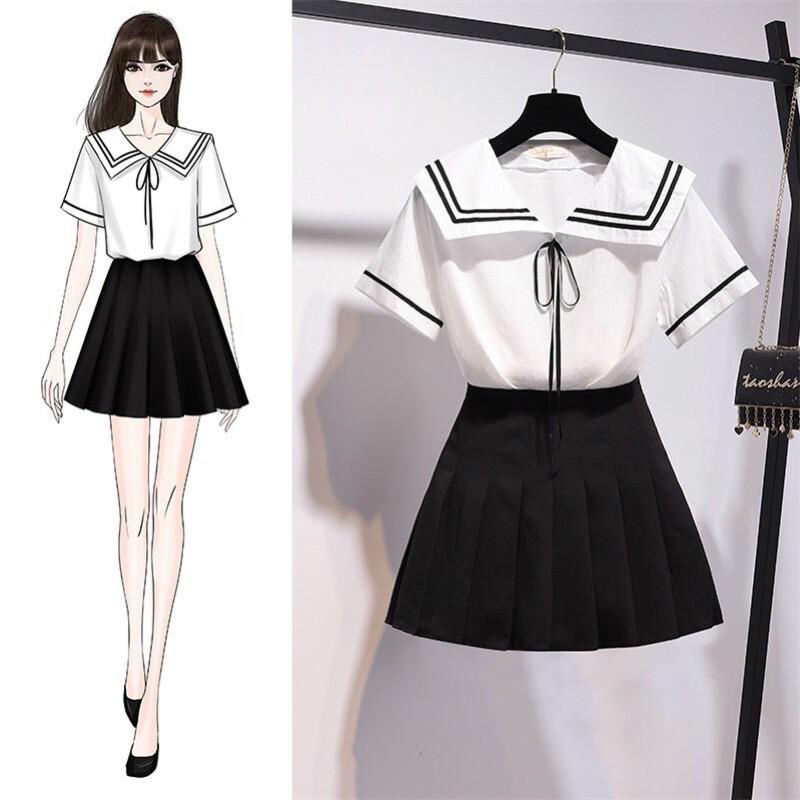 Sét Váy Thuỷ Thủ Gồm Áo Và Váy 🌾🌾🌾
