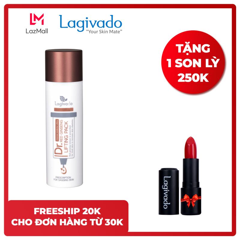 Gel mặt nạ hồng sâm Hàn Quốc Lagivado giảm mụn đầu đen, nâng cơ, se khít lỗ chân lông Dr. Red Ginseng Lifting Pack 50 ml