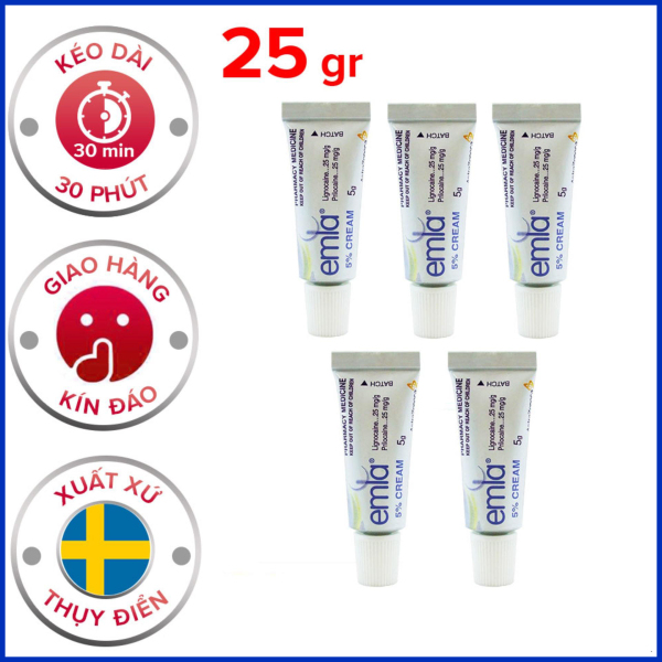 Bộ 5 Kem bôi Emla Cream 5% hỗ trợ nam giới kéo dài thời gian cao cấp