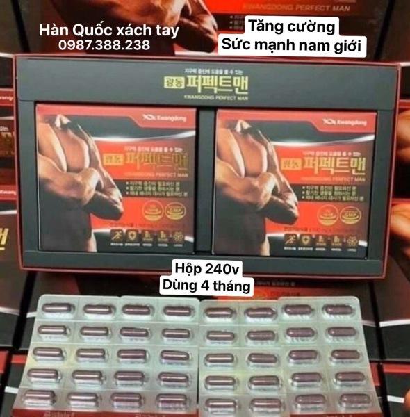 Hộp 240v dùng 4 tháng-  Bổ nam Perfect Man Kwangdong nội địa Hàn- 1 người khỏe 2 người vui