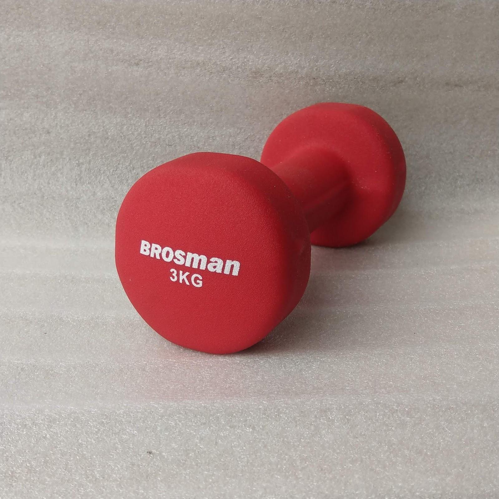 Tạ Tay Brosman 3 Kg (Đỏ) Đang Khuyến Mại Khủng