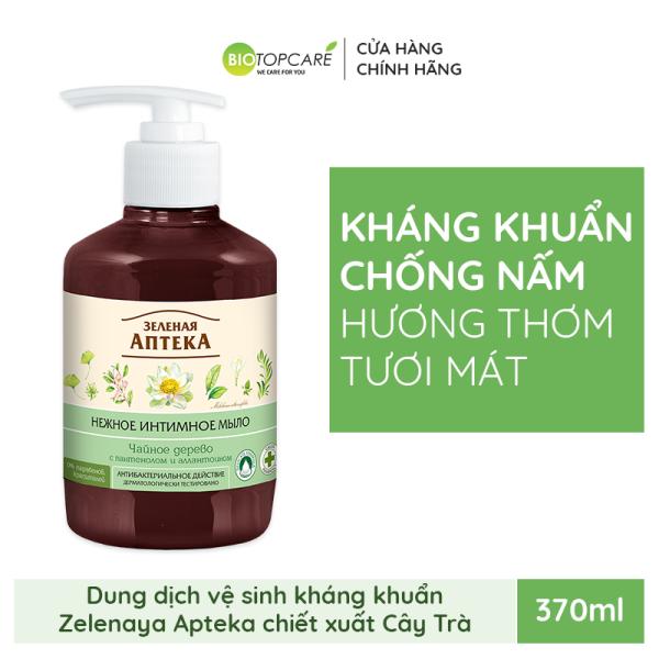 Dung dịch vệ sinh phụ nữ kháng khuẩn Zelenaya Apteka chiết xuất Cây Trà 370ml