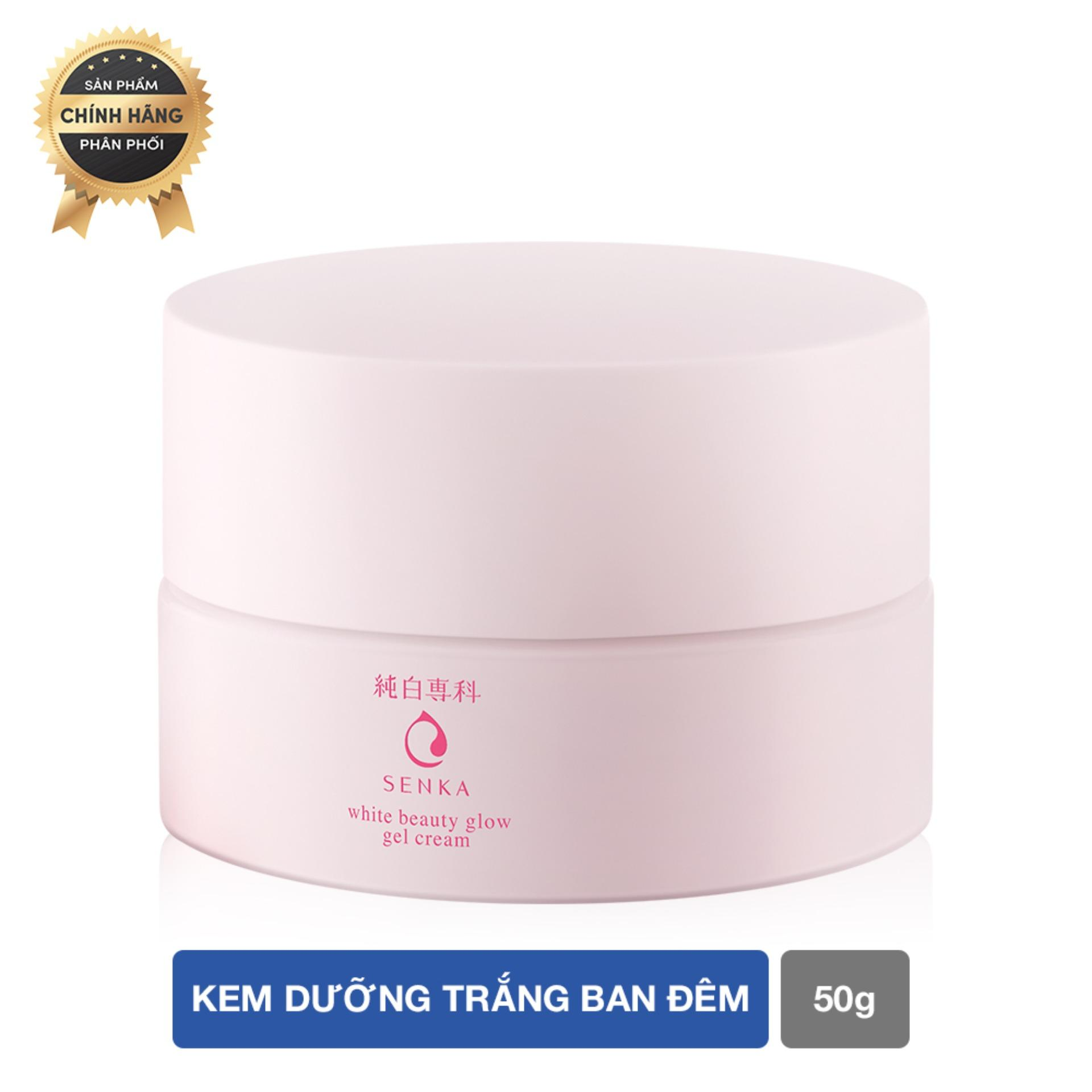 Kem dưỡng trắng ban đêm Senka White Beauty Glow Gel Cream 50g