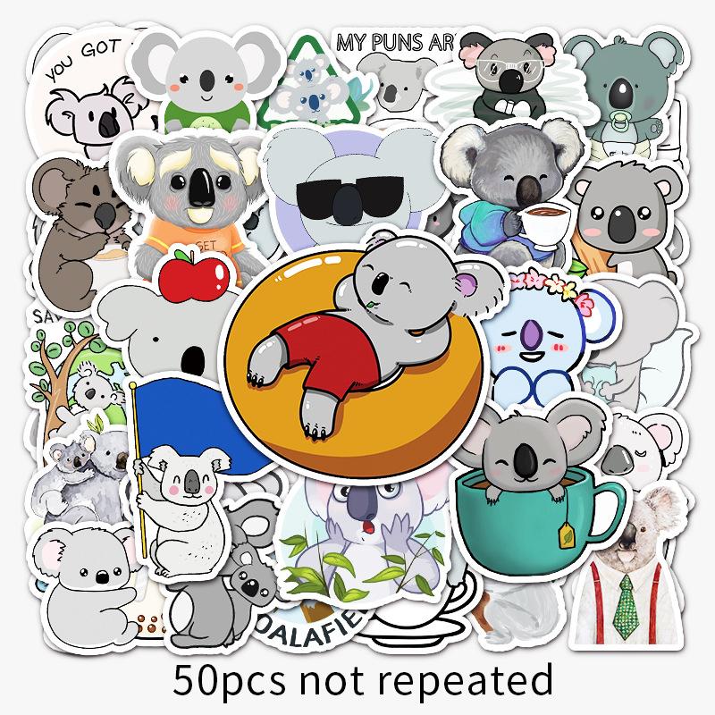 50Từ Phim Hoạt Hình Koala Cá TínhDIYGraffiti Dán Laptop Máy Tính Xe Tay Ga Tủ Lạnh Ô Tô Dán Trang Trí Dán Xe Máy thumbnail