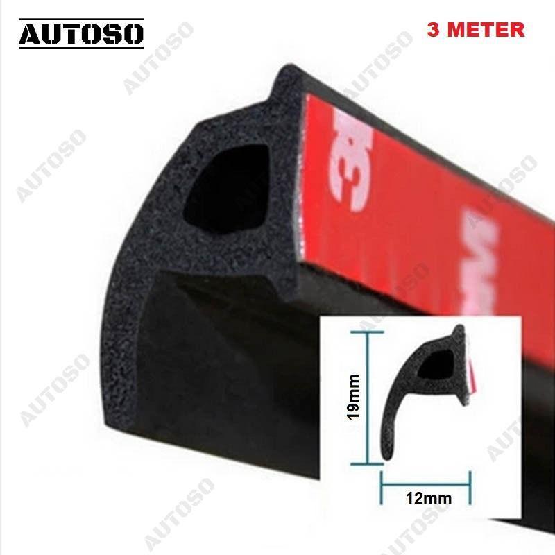 Gioăng cao su chữ P xe hơi 10x22mm - Bộ 3 MET, gioăng chống ồn, ngăn bụi, thoát nước cao cấp - AUTOSO