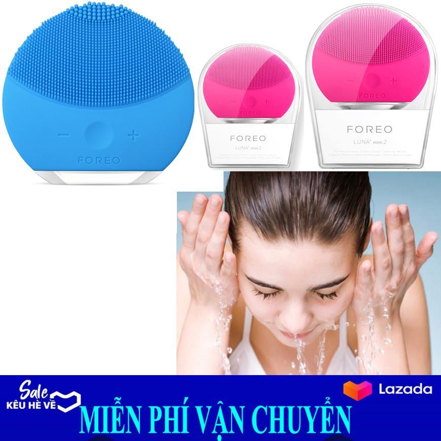Máy rửa mặt massage da mặt FORE Luna Mini 2, Máy  rửa mặt massage da mặt FORE hiệu quả - Có một làn da mịn màng White - Giúp bạn sỡ hữu một làn da trắng hồng rạng rỡ điểm 10