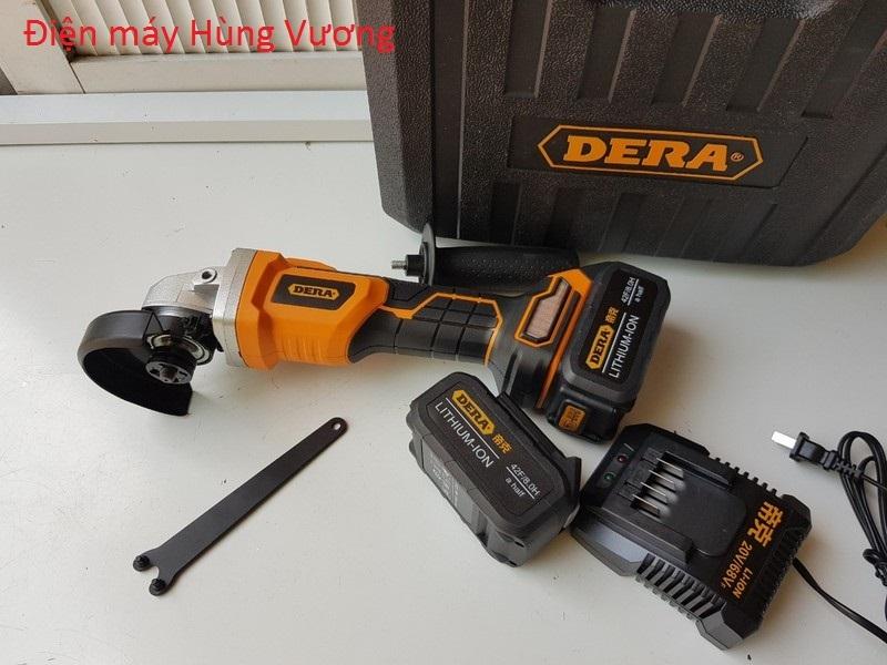 Máy mài pin DERA DK-W2094A 20v- M10, đá100mm, nặng máy và pin  2.2 kg, 9.000vòng phút