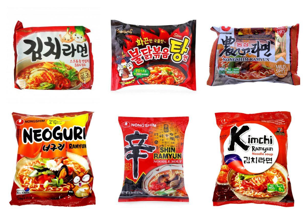 Combo 10 Gói Mì Cay Dạng Nước Nước Hàn Quốc 120g