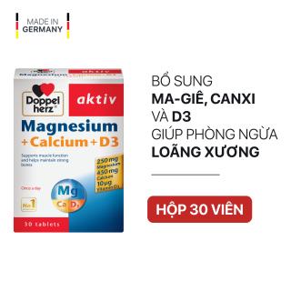 Viên uống bổ sung Canxi phòng ngừa loãng xương Doppelherz Magnesium + Calcium + D3 (Hộp 30 viên) thumbnail