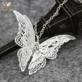Mặt dây chuyền con bướm bạc 925 cao cấp tự làm trang sức tự làm dây chuyền tự làm bông tai trang sức handmade thumbnail
