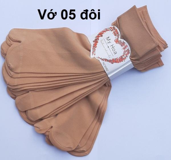 Combo 05 đôi vớ da xỏ ngón Nữ 100 % Thun Cotton Cao Cấp Co giãn tốt, thấm hút mồ hôi ( giá rẻ)
