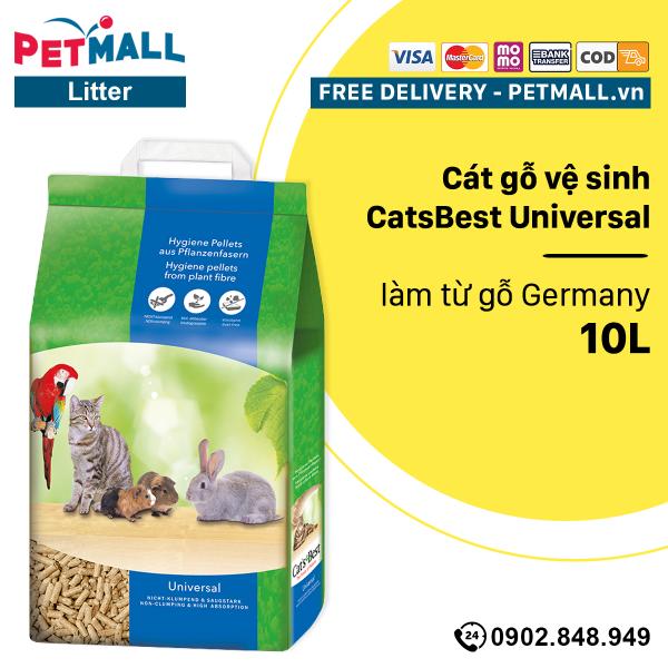 Cát gỗ vệ sinh CatsBest Universal 10L - làm từ gỗ Germany Petmall