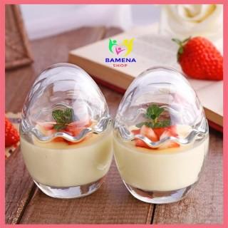 Hũ thủy tinh hình trứng làm sữa chua, bánh flan và caramen cho bé AD05 thumbnail