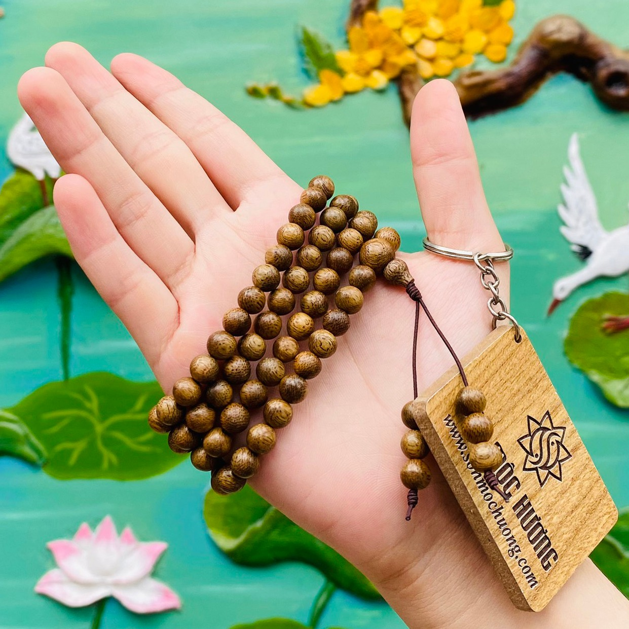 [HCM]Vòng tay trầm hương phong thủy chuỗi tràng 108 hạt nam nữ Sơn Mộc Hương từ trầm tốc tự nhiên giúp mang lại may mắn bình an và tài lộc cho người đeo