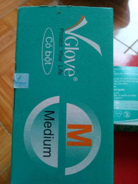 Găng tay y tế không bột VGlove 100 chiếc /1 hộp nhập khẩu