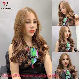 Tự nhuộm tóc màu Nâu vàng tại nhà, hàng nội địa Việt Nam, không gây hư tổn cho tóc (Trọn bộ tặng gang tay, trợ nhuộm) thumbnail
