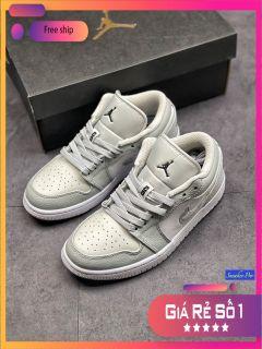 ( FULL BOX) Giày thể thao Air Jordan 1 Low White Camo năng động êm ái, giày cổ thấp jordan, giày jordan thấp cổ thumbnail