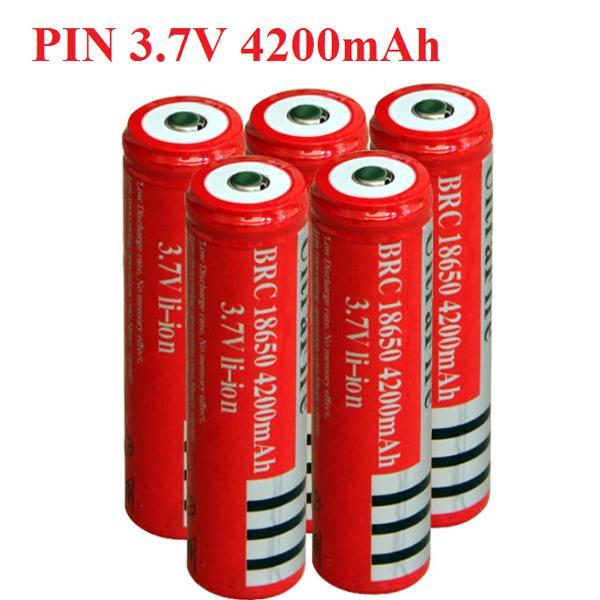 Offer Khuyến Mại Bộ 5 Sạc Pin 3.7V 4200mAh Ultrafire 18650 Tự Ngắt Dùng Cho đèn Pin, Quạt Sạc,đèn Laze, Vv