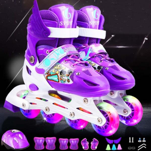 Giá bán Bộ Giày Trượt Patin Cho Trẻ Em Size M phù hợp cho bé từ 6 đến 12 tuổi