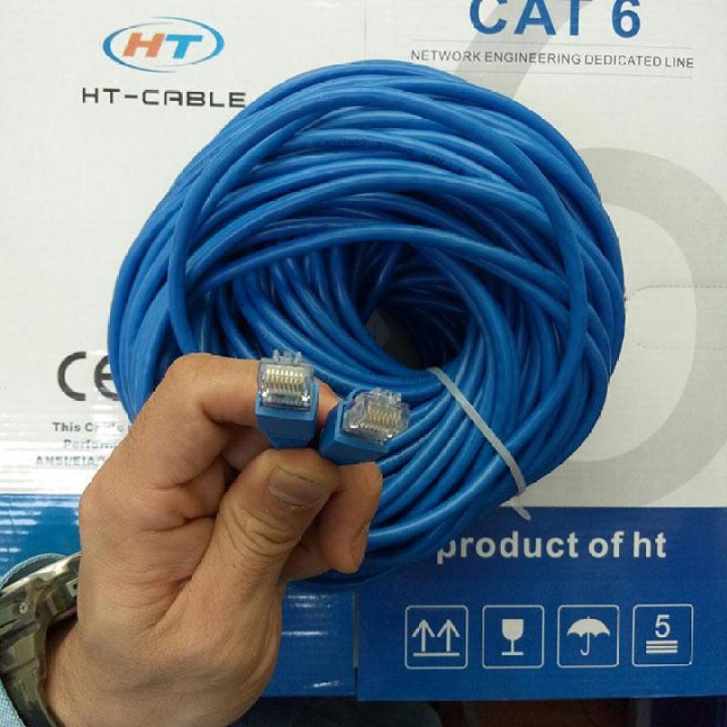 Bảng giá Dây cáp mạng Cat6 UTP HT-Cable 40 Mét Có sẵn 2 đầu (Blue, New 100%) Phong Vũ