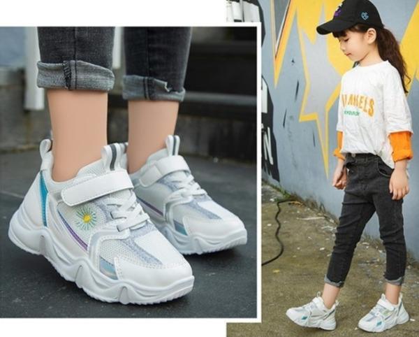 Giá bán Giày thể thao lưới thoáng mát, mẫu mới cho bé gái từ 4 đến 15 tuổi TAT21